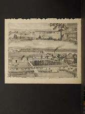 New York, Chautauqua County Engraving, 1881 Gerry, Mayville, Jamestown N6#63