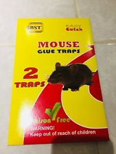 @BST Easy Catch Mouse Glue Trap 2 Traps Sticky Rodent Catcher