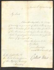 BILL OF EXCHANGE GOVERNOR OF INDIA GILBERT ELLIOT AUTOGRAPH BASTIA CORSICA 1796