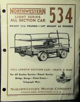 VINTAGE: Northwestern Light Series All Section Railcar Bulletin 434
