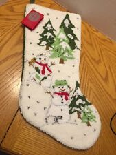 woodland snowman collection stocking 1999 May Dept Store Home for The Holidays