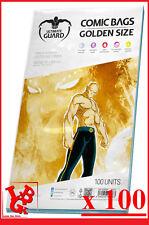 Pochettes Protection GOLDEN Size comics VO x 100 Ultimate Guard Marvel # NEUF #