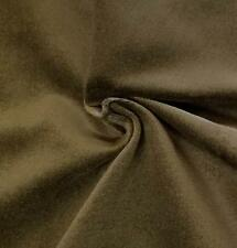 """Green Cotton Velvet Velour sewing Fabric Upholstery Drapery Sold Per Yard 54"""" w"""