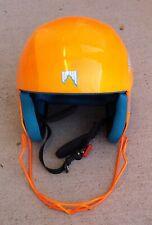Shred Mega Brain Bucket Ski Race Helmet Orange Size L/60 with Chin Guard