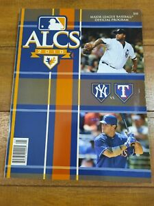 2010 MLB Baseball ALCS Official Program Yankees vs. Texas Rangers - Jeter