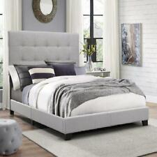 Crown Mark Florence Gray Panel Bed Frame Size Queen