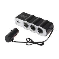 3/4 WAY MULTI SOCKET CAR CIGARETTE LIGHTER SPLITTER USB PLUG CHARGER DC12/24V