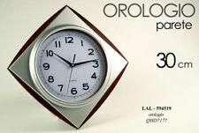 OROLOGIO DA PARETE 30 CM QUADRATO GRIGIO MODERNO CLASSICO LAL 594519