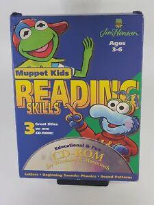 Muppet Kids Reading Skills CD ROM - Letters, Beginning Sounds Phonics, Patterns