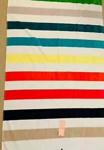 "Kate Spade Beach Towel/Oversized Bath 40x70"" Navy, Pink, Beige, White Stripe"