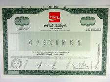 Coca-Cola Bottling Co. Consolidated, 1987 Odd Shrs Specimen Stock Cert., VF ABN