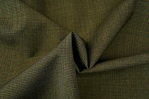 PURE WOOL BROWN & GREY SUPER FINE HOUNDS TOOTH CHECK LUXURY TAILORING E134