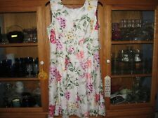 WOMENS DRESS SIZE 16 XLARGE LARGE WHITE FLORALS CAREER WEDDING RETAIL$74.00 NEW