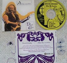 """DAVID CROSBY """"AFTER THE VACATION"""" CD RARE LIVE TOWER THEATRE PHILADELPHIA 1989"""