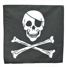 "Pirate Skull & Crossbones 21"" x 21"" (54cm x 54cm) Kerchief Head Scarf Bandana"