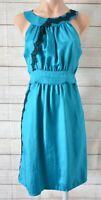 Cooper Street Shift Dress Size 10 Blue Green Black Sleeveless Lace Jewel