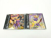 Playstation PS1 Spyro 3 Game Lot (Ripto's Rage!, The Dragon, Year of the Dragon)