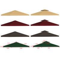 10x10' Outdoor Gazebo Top Tent Cover Pop Up Sunshade Canopy Replacement 1 2 Tier