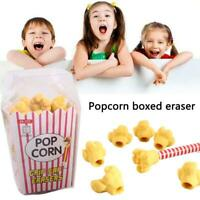 Popcorn Rubber Eraser Cute School stationary Prank Toy Gift Reward 2019HOT