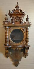 GUSTAV BECKER SILESIA OLD ANTIQUE WOODEN CASE PARTS VIENNA REGULATOR WALL CLOCK