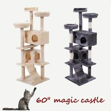 """60"""" Cat Tree Tower Condo Furniture Scratching Post Pet Kitty Play House"""