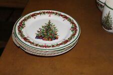 "3 Christopher Radko Traditions Holiday Celebrations 8 1/4"" Salad Plates"