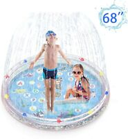 "Splash Pad Sprinkler 68"" for Dogs Kids Wading Pool Children Inflatable Water Toy"