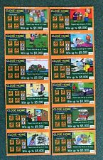 Close to Home Instant Lottery Lot of 12 , Cartoons, Comics