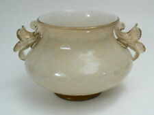 Barovier & toso Murano Grosse jarrón brillantati blanco opaco oro lámina rautendekor