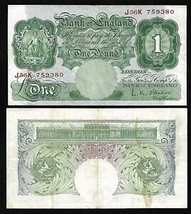 Great Britain - 1 Pound Note (1955-60) P369c - VF/XF