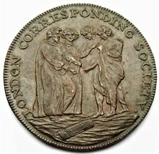 London Corresponding Society - Halfpenny Token 1795 Edge milled W 286