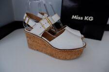 Miss Kurt Geiger, KG Womens Wedges, White Leather, Cork Uk 7 Eu40