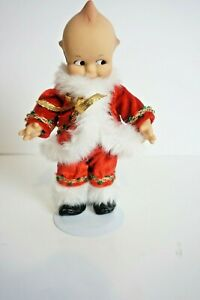 """Vintage 8"""" Effanbee Christmas Santa Kewpie Doll  With  Stand NO HAT OR CHARM"""