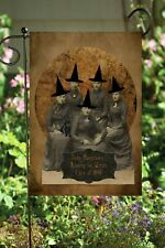 Halloween Witch Lady Group - Double Sided Soft Flag     **GARDEN SIZE**   FG1242