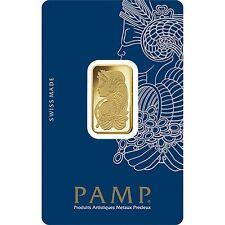 PAMP Suisse FORTUNA 10 G grammo oro fino Barre Lingotti 999.9 - GRATIS P&P