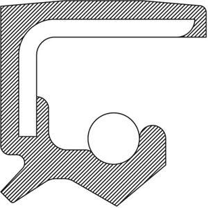 Power Steering Pump Shaft Seal National 222028