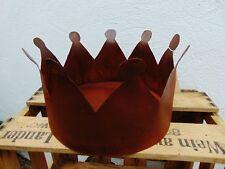 Krone XL mit Boden Edelrost rostig Blumentopf Schale Metall Gartendeko
