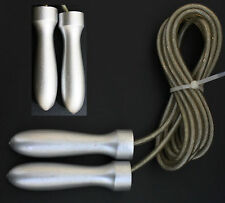 Professional WIRE Skipping Jump Rope with Weighted Steel Handles Athletics Gear