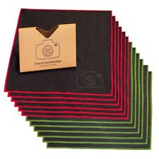 LARGE [50 Pack]Clean&Clear Microfiber-ULTRA PREMIUM QUALITY Lens Cleaning Cloth