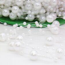 5M Christmas String Pearl Acrylic Bead Garland Spool Bouquet Party Wedding Decor