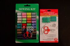 SEWING KIT & HOUSEHOLD REPAIR NEEDLES  (Lot of 4)