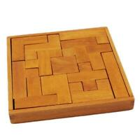 Magic Puzzle Wooden Cube Toy Brain Teaser 3D Gift Wood Intelligence Game 6L