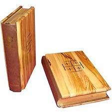 The Holy Bible (King James Version) with Olive Wood Cover from the Holy Land