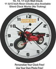 Rokon Ranger Motorcycle Wall Clock-Free US Ship, Honda, yamaha