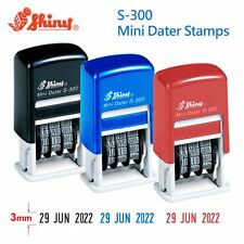Shiny S300 Self-Inking Rubber Mini Date Stamp Chop (Color Black / Blue / Red) AU