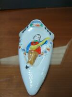 Vintage Wall Pocket with Man Playing Mandolin - Made in Japan
