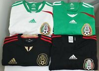 4x ADIDAS Mexico National Team Soccer Jerseys SIZE MEDIUM Authentic & HTF