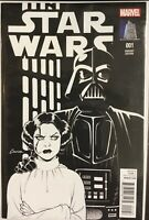 Star Wars #1 2015 Marvel Connor Variant Cover B/W Vault Collectibles