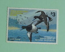 1978 Minnesota DNR Waterfowl Duck Hunting Stamp License Tag...Free Shipping!