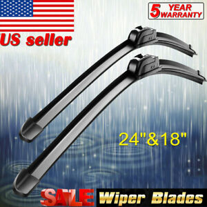 "New ALL SEASON 24""+18"" Inch HIGH Quality Beam Windshield Wiper Blades (Set of 2)"